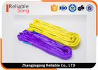 3 Ton Yellow 100% Polyester Round Slings Low Elongation For Safety Lifting