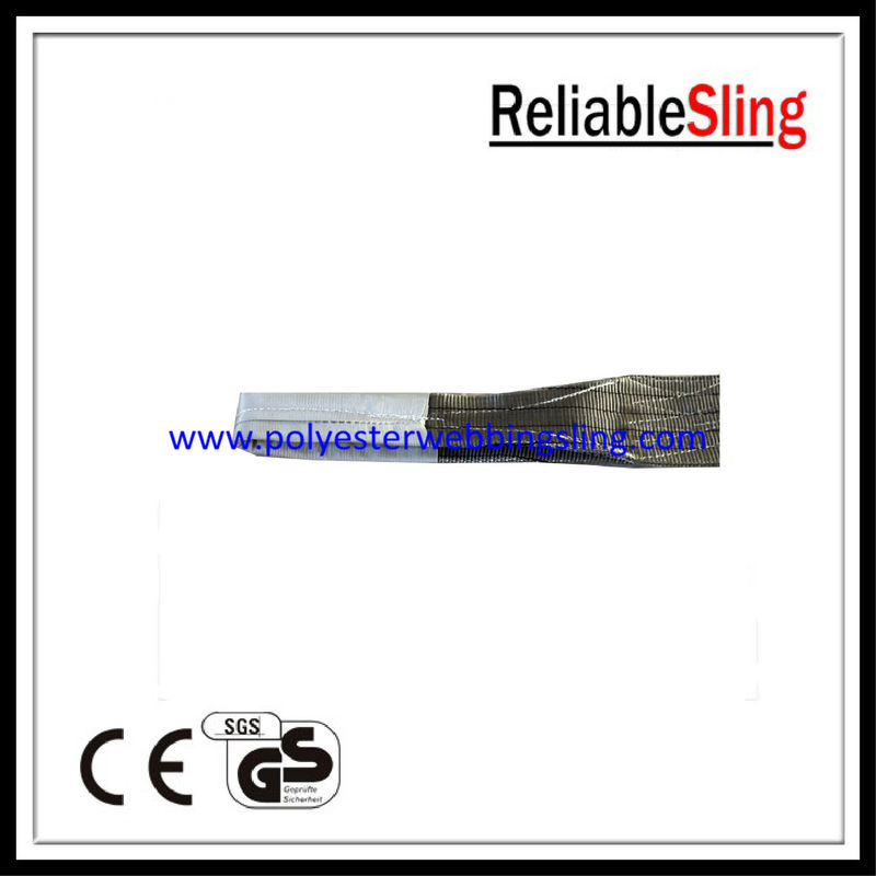 High Safety Anti - wear Grey Flat Webbing Sling for construction , engineering