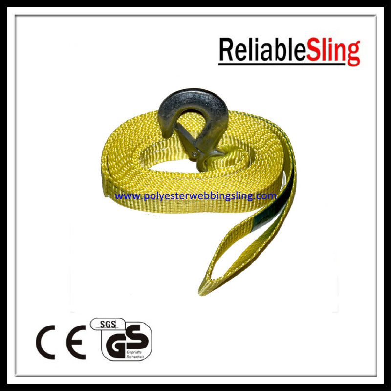 50mm 1.5 Ton truck / vehicle recovery tow strap , heavy duty webbing straps