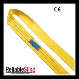 3 Ton Yellow Endless Webbing Sling / Reliable Weight Lifting Belt Sling