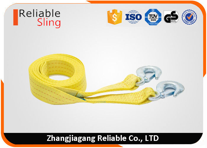 "2"" 10000 lbs Capacity Heavy Duty Tow Straps Car Recovery Straps With Hooks"
