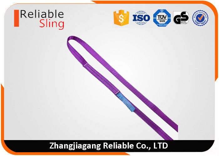 Custom Heat Resistant Single Ply Endless Webbing Soft Sling Belt For Crane Lifting Use
