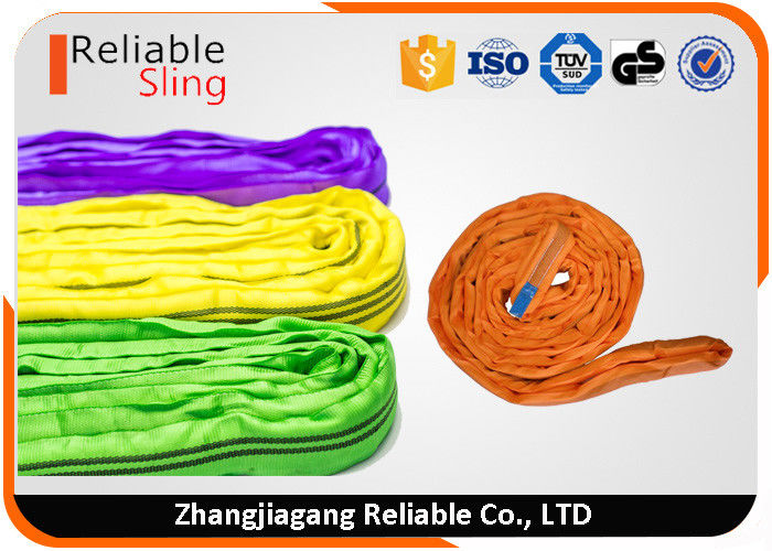 Versatile Durable Round Polyester Web Sling / Rigging Slings For Cargo Lifting