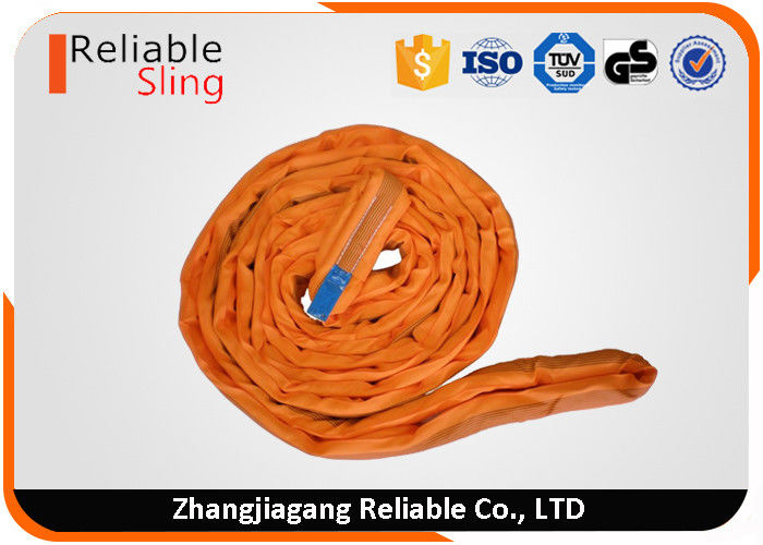 CE Round Webbing Sling Endless Polyester Lift Cargo Strap With High Safety Factor