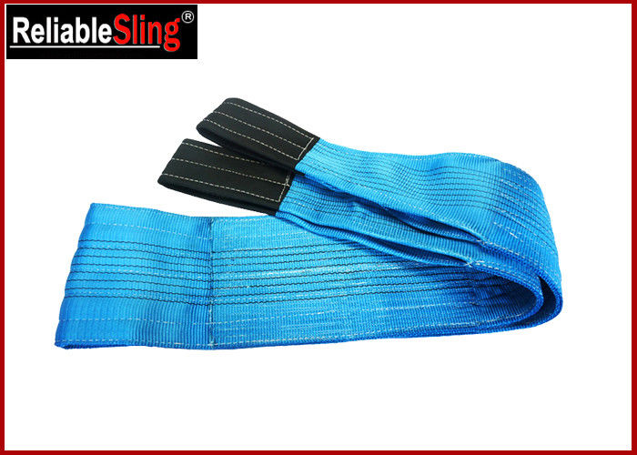 Polyester Flat Webbing Slings 8 Ton Flexible Heavy Duty Lift Sling